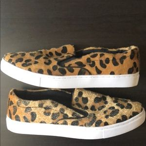 Unique Leopard Slip-on sneakers Faux Fur